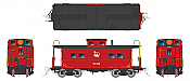 Rapido 144003 - HO Northeastern-style Steel Caboose: CNJ - Liberty Scheme #91534