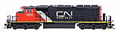 InterMountain 49303-01 HO Diesel EMD SD40-2W ESU DCC Installed - Canadian National CN.CA Website #5250