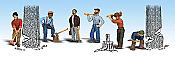 Woodland Scenics 1876 HO Lumberjacks - Scenic Accents(R) - pkg(6)