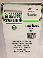 Evergreen Scale Models 4062 .060in Opeque White Polystyrene Novelty Siding (1sheet)