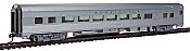 WalthersMainline 30003 HO 85Ft Budd Large-Window Coach - Chicago, Burlington & Quincy (silver)