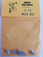 Juneco Scale Models C-75 Single Wood Box Filled (6/pkg)