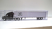 Trucks n Stuff TNS115 - HO Peterbilt 579 Sleeper-Cab Tractor - 53ft Reefer Trailer - Clark Freight Lines