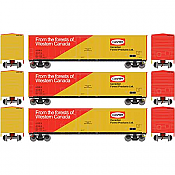 Athearn 76127 HO - RTR 50ft Youngstown PD Box USEX/Canfor 3 Pack