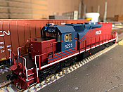Bowser 25065 - HO GMD SD40-2 - DCC Ready - HLCX (ex QNSL, Maroon & Blue) #6219
