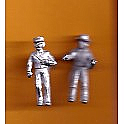 Juneco Scale Models C-110 - Mailman and Telephone Lineman - 2 Unpainted Figures