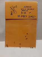 Juneco Scale Models B-18 - HO 7in Amber Jewels (12/pkg)