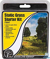 Woodland Scenics Field System 647 Static Grass Starter Kit