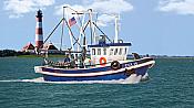 Walthers 11016 HO Scene Master Fishing Boat - Kit