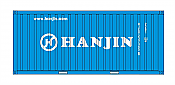 Intermountain HO 30056-3 A-Line, 20' Corrugated Containers with Corrugated Doors, Hanjin Shipping HJCU #s 236532, 237345