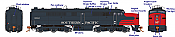 Rapido 23538 HO - PA-2 + PB-2 Locomotive Set - DCC & Sound - Southern Pacific (Bloody Nose) #6045+5924