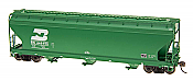 Intermountain Railway 47035-06 HO ACF 4650 Cubic Foot 3-Bay Hopper - Burlington Northern BN #446197