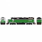 Athearn G64605 HO GP39-2 PHllb w/DCC & Sound, Burlington Northern BN/White Face #2702