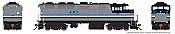 Rapido 19024 HO GMD F59PH - DCC Ready - AMT Montreal #532