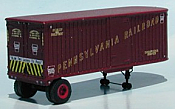 Sylvan Scale Models 002 HO Scale - 26Ft Fruehauf Pennsy Trailer - Unpainted and Resin Cast Kit