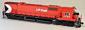 Bowser 24285 HO Executive Line Alco MLW M636 ESU LokSound & DCC Canadian Pacific CP Rail 4728 - CP Rail 5 Inch Stripe Air Start w/Water Tank