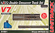 Kato Unitrack 20-8661 N Scale V7 Double Crossover Track Set
