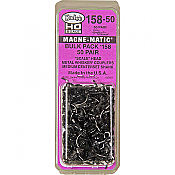 Kadee 158-50 - HO Whisker Scale Self-Centering Knuckle Couplers - Magne-Matic - Medium 9/32in Centerset Shank with #242 Draft Gear Boxes - 50 Pack
