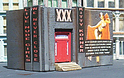 Downtown Deco N Scale - Kitty Corner - Kit (Adult theme signs)