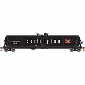 Athearn 18004 - HO Scale RTR 62ft Tank - CB&Q (Burlington) #130003
