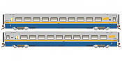 Rapido 108034 HO Scale LRC Coach VIA Original Scheme Unnumbered-Pre Order