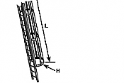 Plastruct 90434 - G (1:24) Ladder with Safety Cage (1pc)