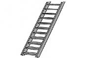 Plastruct 90442 HO ABS 2 in Stair (2pcs pkg)