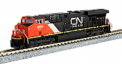 Kato N Scale Diesel 1768938 GE ES44AC GEVO - DCC Ready- Canadian National #2898