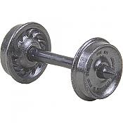 Kadee 523 - HO Code 110 (.110in) - 33in Ribbed Back Metal Freight Wheels (12/pkg)