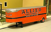 Sylvan Scale Models 008-2 HO Scale - 1947-55 32Ft Fruehauf  Aerovan w/ Allied Decals - Unpainted and Resin Cast Kit