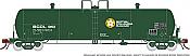 Rapido 135012 HO Scale - Procor GP20 20K Gal Tank Car: BC Rail - Company Service (4 pack)