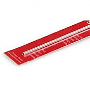 K&S Engineering 83010 All Scale - 3/32 inch OD Square Aluminum Tube - 0.014inch Thick x 12inch Long