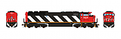 Aurora Miniatures Inc HD1N10B HO - GMD SD60F Diesel - DC/Silent - CN (Stripes-In Service) #5558
