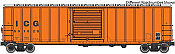 WalthersMainline 2172 HO 50 Ft ACF Exterior-Post Boxcar - Ready to Run - Illinois Central Gulf No.501045