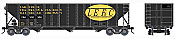 Bowser HO 42169 100-Ton 3-Bay Open Hopper Assembled w/Knuckle Couplers & Metal Wheels - CNA ex LEFC w/logo #330376