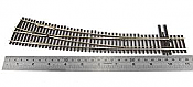 Peco Code 83 SL 8376 Streamline #7 Insulfrog Turnout - Nickel Silver Right Hand Curved HO Scale Track