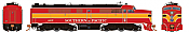 Rapido 23534 HO - PA-2 + PB-2 Locomotive Set - DCC & Sound - Southern Pacific (Daylight) #6037+5918