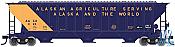 Atlas Trainman 20005465 HO 4750 Covered Hopper State Of Alaska No.018