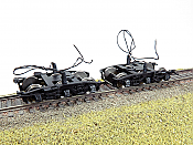 Rapido Trains Bits HO Scale Buckeye Steam Tender Trucks with Pickups (1 pair) 606-102111