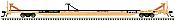 Atlas Model Railroad 20005254 HO ACF 89ft  Intermodal Flatcar - Ready to Run - Master(R) -- TTX RTTX 603760