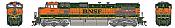 Athearn G31610 HO Scale - G2 Dash 9-44CW Diesel, DCC & Sound - BNSF Railway H1 #977