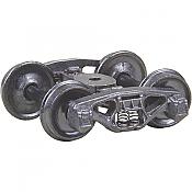 Kadee 500 - HO Bettendorf 50-ton Trucks w/33in Smooth Back Wheels - Metal Fully Sprung (1pair)