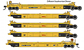 WalthersMainline 55629 HO - Thrall 5-Unit Rebuilt 40 Ft Well Car - Ready to Run - TTX - DDTX #748227 A-E