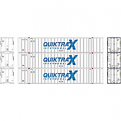 Athearn RTR 72782 - HO 53ft Stoughton Container - QuikTrax (3pk)