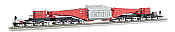 Bachmann Industries Spectrum 380-Ton Schnabel Car w/Transformer Load - Ready to Run - Red, Black, Gray Load, Black Trucks