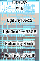 SmokeBox Graphics DF6987 - HO Rough-Edged Gray Paint Out Blanks