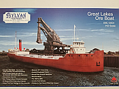 Sylvan Scale Models 10501 HO Scale - Great Lakes Ore Boat Kit - Unpainted and Resin Cast