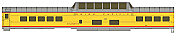 WalthersProto 18051 HO - 85Ft ACF Dome Coach UP Heritage Fleet - Ready to Run - Standard - Union Pacific, Columbine #7001