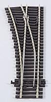 Peco SLE96 - HO Code 100 Streamline Medium Radius Turnout Left Hand, Electrofrog