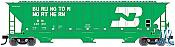 Atlas Trainman 20005459 HO 4750 Covered Hopper Burlington Northern No.448845